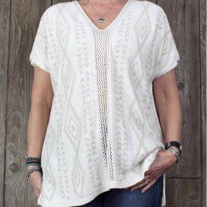 Ella Moss Crochet Sweater Tunic